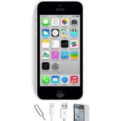 Apple iPhone 5C (16GB) - White - Factory Unlocked - Grade A Bundle