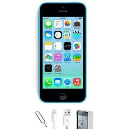 Apple iPhone 5C - (8GB) Blue Factory Unlocked Grade A Bundle