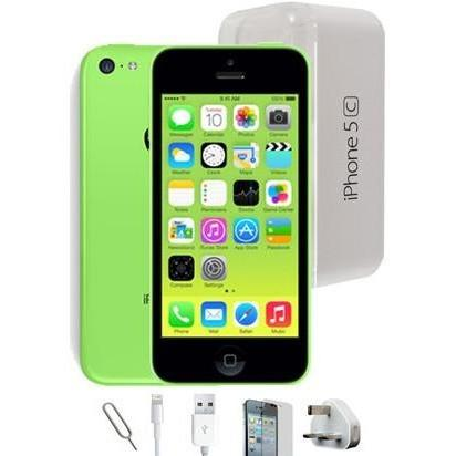 Apple iPhone 5C (8GB) - Green - Factory Unlocked - Grade A Full Bundle