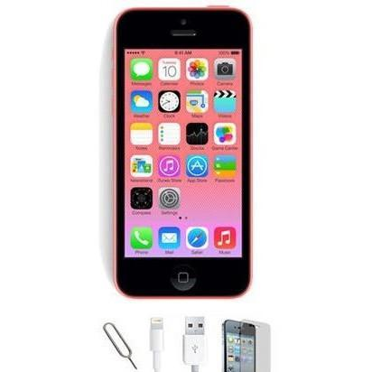 Apple iPhone 5C (8GB) - Pink - Factory Unlocked - Grade A Bundle