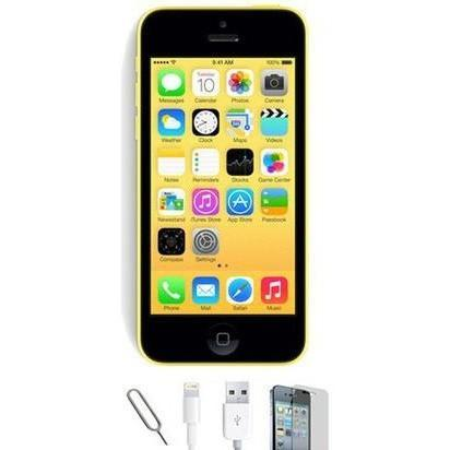 Apple iPhone 5C - (8GB) Yellow Factory Unlocked Grade A Bundle
