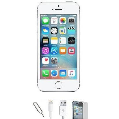 Apple iPhone 5S - (32GB) White / Silver Factory Unlocked Grade A Bundle