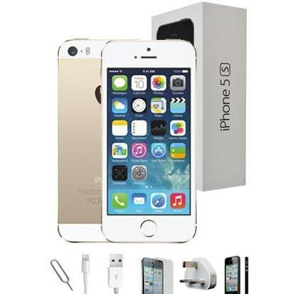 Apple iPhone 5S (64GB) - Champagne Gold - Unlocked - Grade A Full Bundle