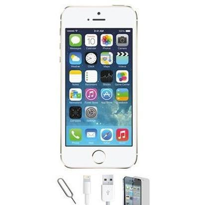 Apple iPhone 5S - (64GB) White / Silver Factory Unlocked Grade A Bundle