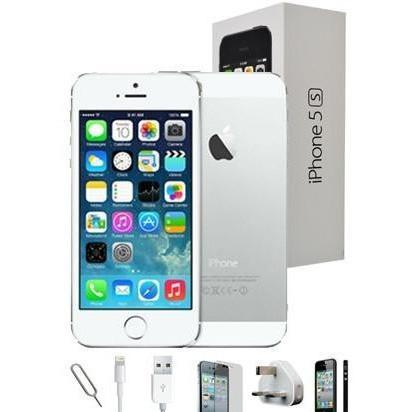 Apple iPhone 5S - (64GB) White / Silver Factory Unlocked Grade A Full Bundle