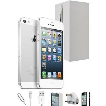 Apple iPhone 5 - White / Silver - (32GB) - Unlocked - Grade A - Full Bundle