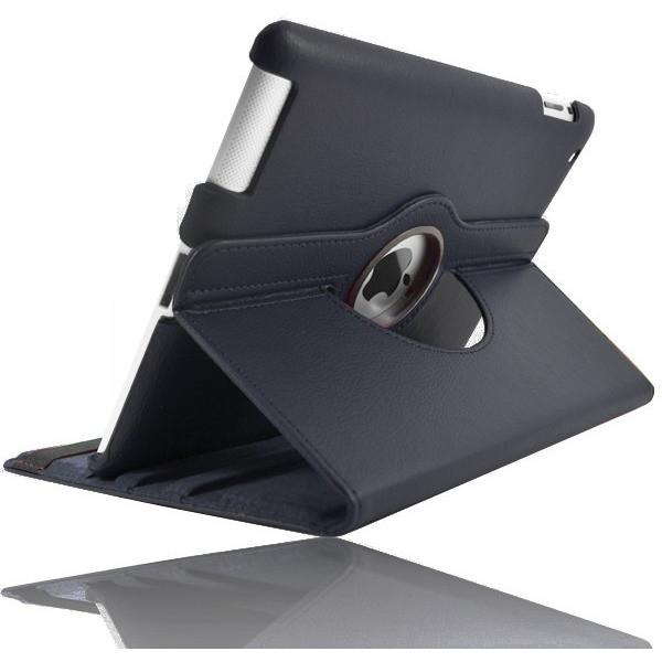 iPad Air 2 - Leather 360 Degree Rotating Rotary Case Cover - Dark Blue