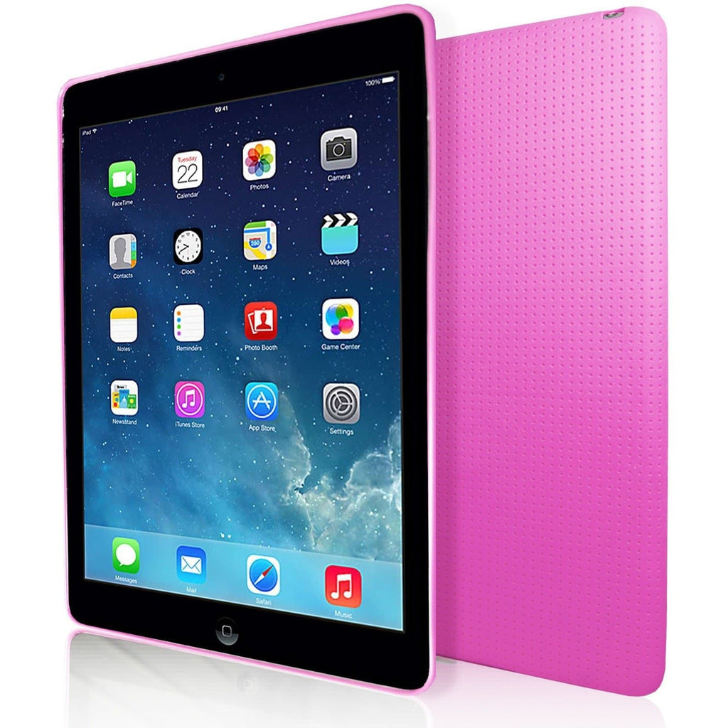 "iPad Pro 12.9"" Pin Hole Style Silicone Gel Case Cover - Pink"