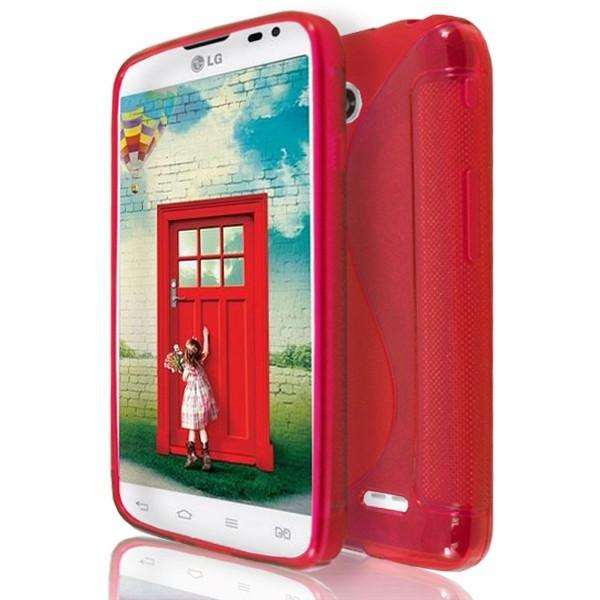 LG L65 / L70 - Red S Line Gel Silicone Case