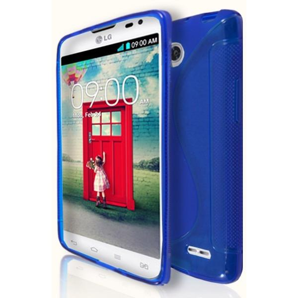 LG L90 - Blue S Line Gel Silicone Case