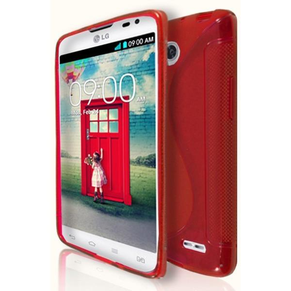 LG L90 - Red S Line Gel Silicone Case