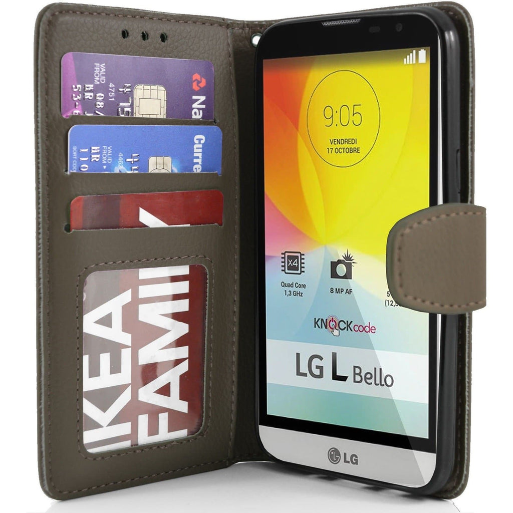 LG L Bello PU Leather Wallet Case - Brown