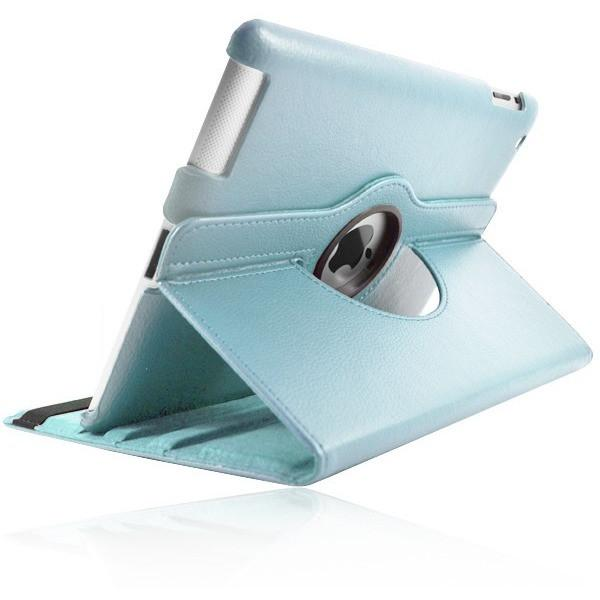"iPad Pro 9.7"" - Leather 360 Degree Rotating Rotary Case Cover Stand - Light Blue"