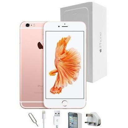 Mobile Phones - Apple iPhone 6S Plus (128GB) - Rose Gold - Unlocked - Grade A Full Bundle