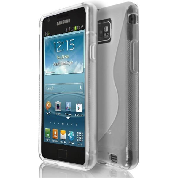 Samsung Galaxy S2 I9100 - Clear S Line Gel Silicone Rubber Case Cover