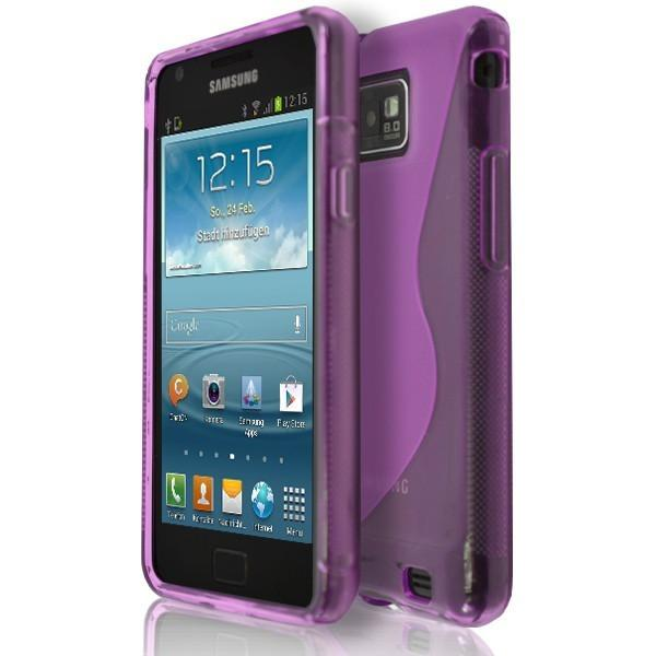 Samsung Galaxy S2 I9100 - Pink S Line Gel Silicone Rubber Case Cover