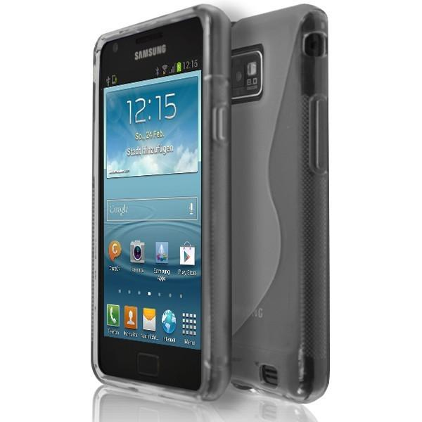 Samsung Galaxy S2 I9100 - Smoked S Line Gel Silicone Rubber Case Cover