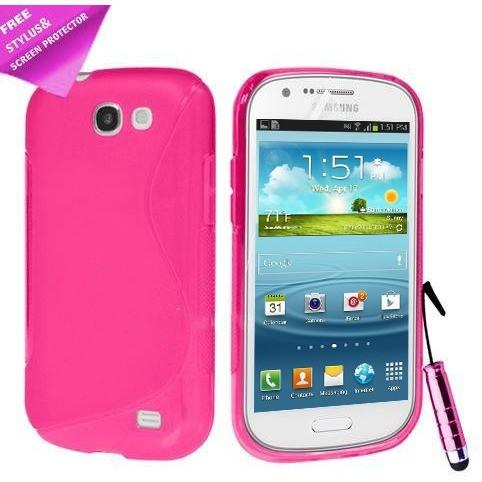 Pink S Line Gel Silicone Rubber Case Cover Samsung Galaxy Express I8730