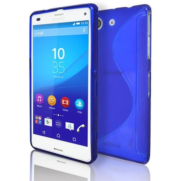 Sony Xperia Z3 Compact - Blue S Line Gel Silicone Rubber Case Cover
