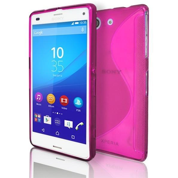 Sony Xperia Z3 Compact - Pink S Line Gel Silicone Rubber Case Cover