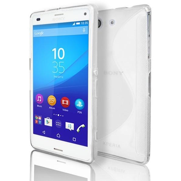Sony Xperia Z3 Compact - White S Line Gel Silicone Rubber Case Cover