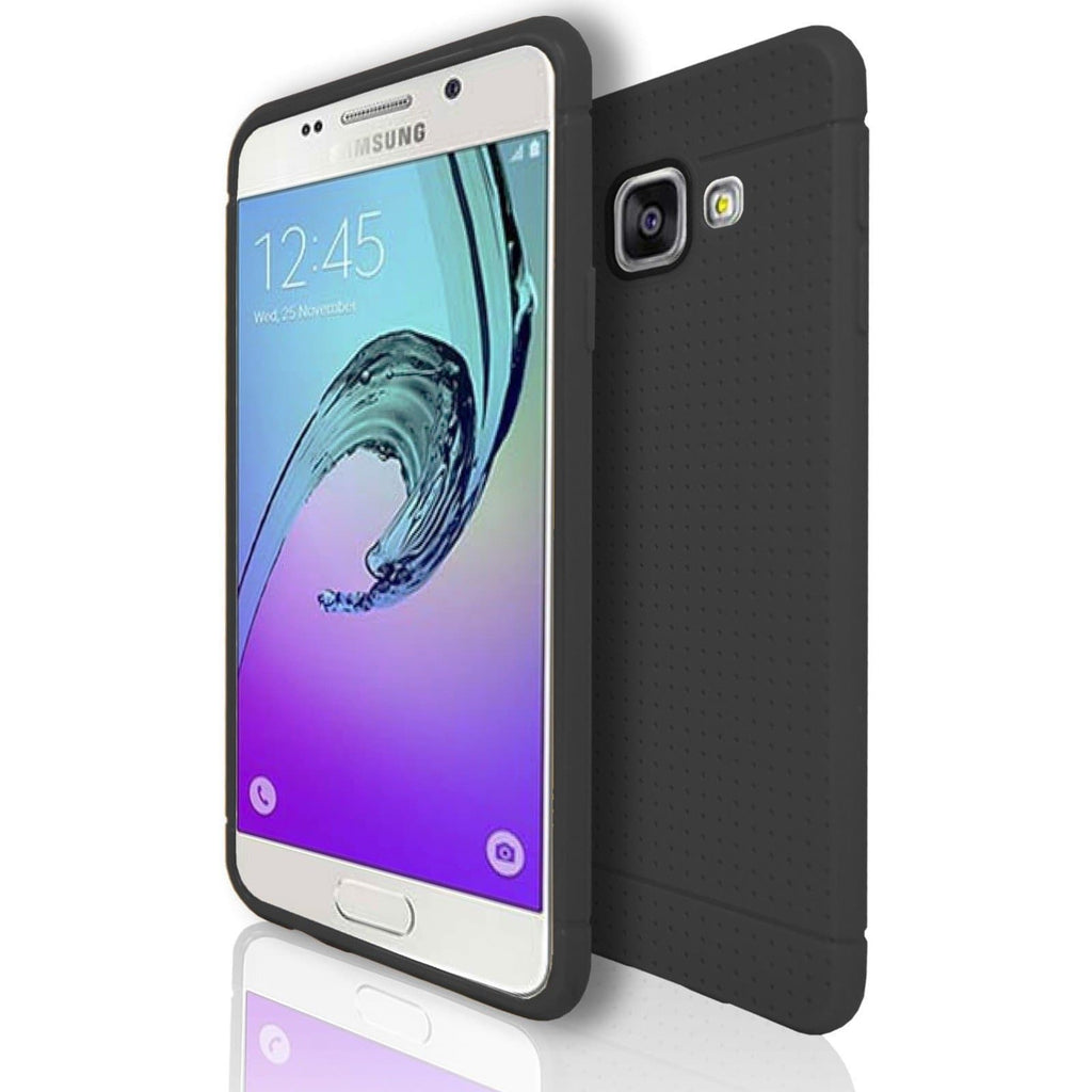 Samsung Galaxy A3 (2016) Silicone Pin Hole Case - Black