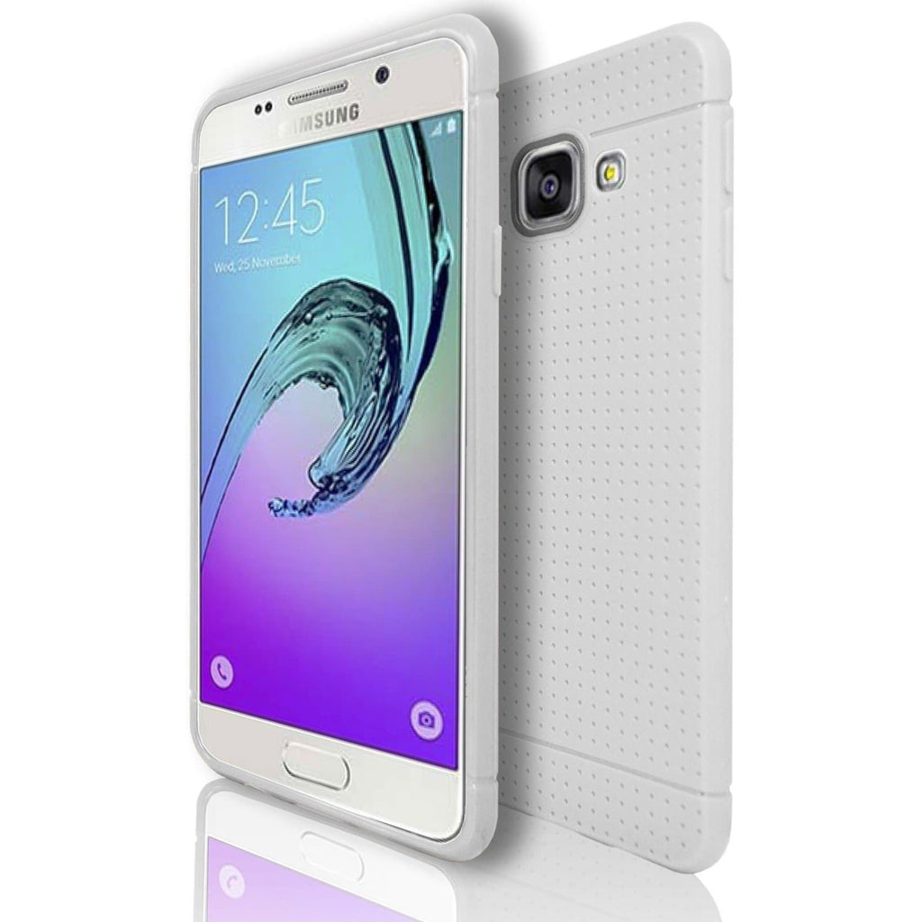 Samsung Galaxy A3 (2016) Silicone Pin Hole Case - White