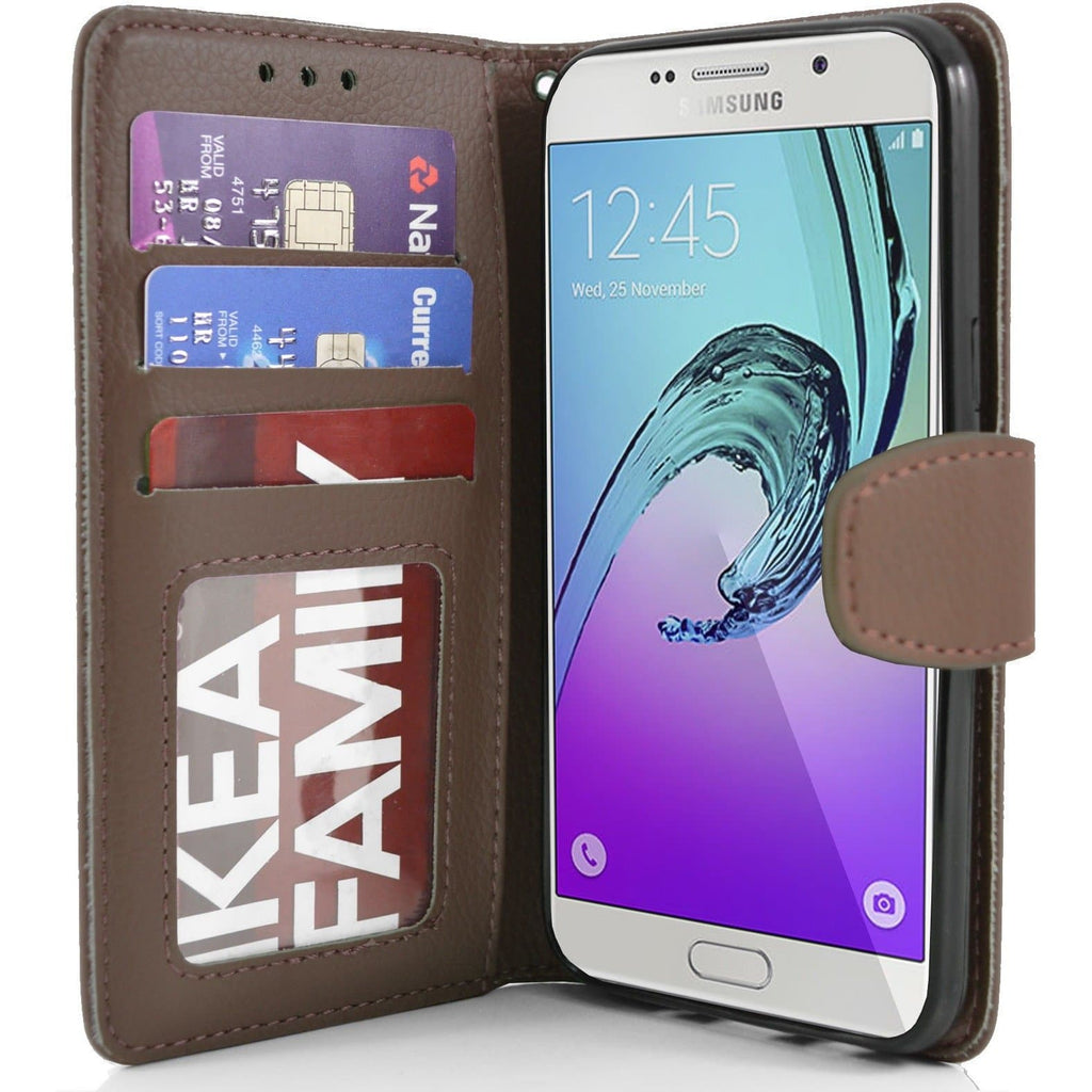 Samsung Galaxy A7 PU Leather Wallet Case - Brown