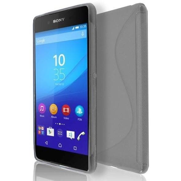 Sony Xperia Z4 - Smoked S Line Gel Silicone Rubber Case Cover