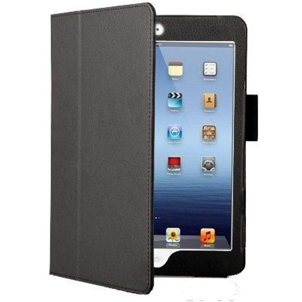 Add-on - Black Leather Case Stand For IPad Mini With Magnetic Sleep Wake Function