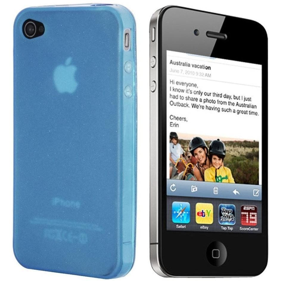 Add-on - IPhone 4/4S - Blue Gloss - Silicone Case