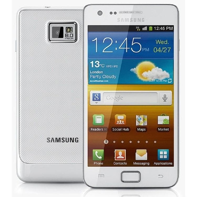 Samsung Galaxy S2 II GT-I9100-16 GB-Ceramic White (Unlocked)