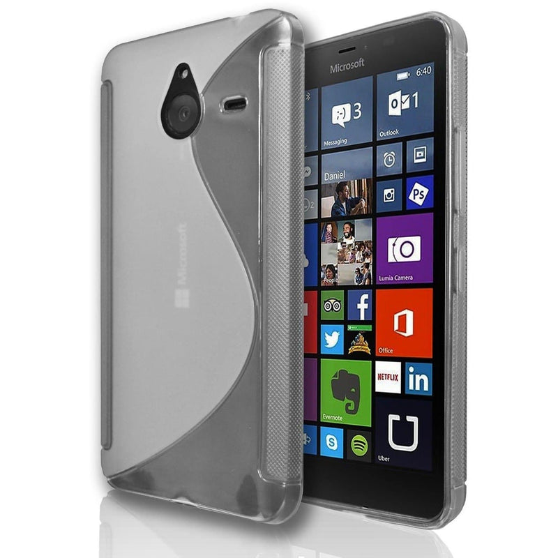 Microsoft Lumia 640 XL S Line Silicone Gel Case Cover - Clear