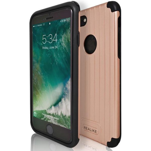 iPhone 7 Case- Shock Proof Silicone Hard Protective Armour Rose Gold