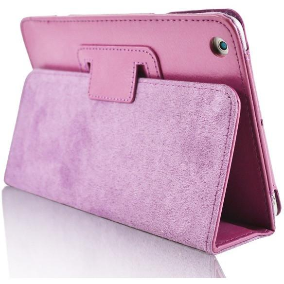 iPad Mini 1 / 2 / 3 - Flip Stand Protective Leather Case - Pink