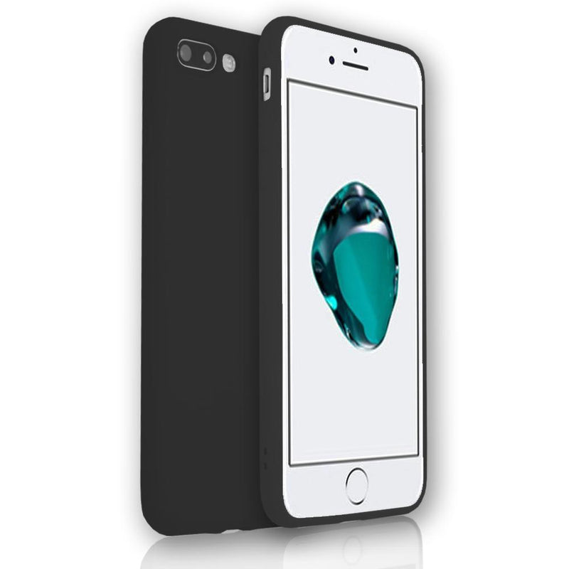 Apple iPhone 7 - Soft Touch Silicone Rear Surround Case - Black