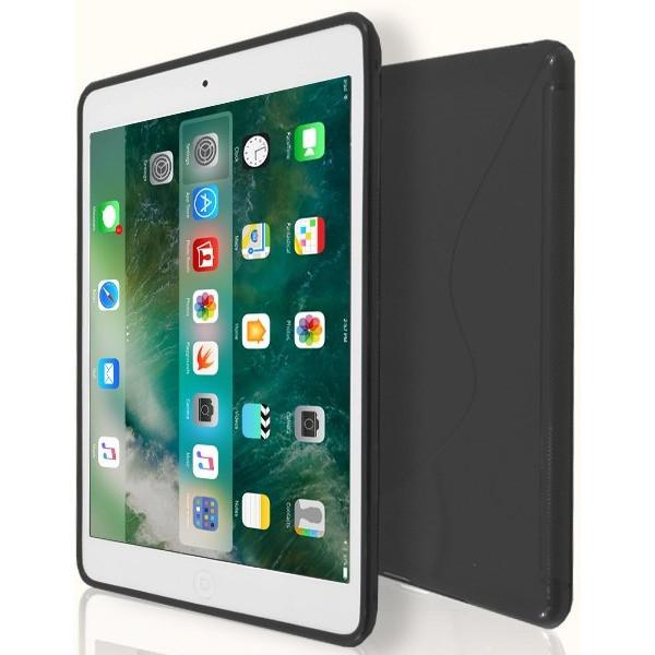 iPad Mini 1 / 2 / 3 - S Line Gel Soft Silicone Case  - Black