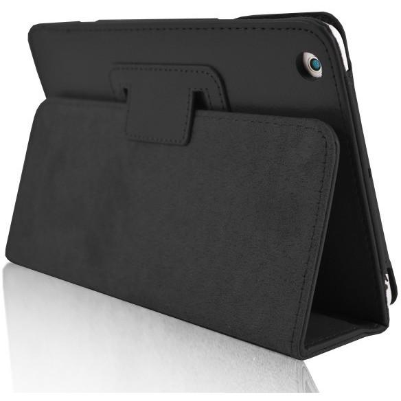 Black Leather Case Stand For iPad Air 2013 With Magnetic Sleep Wake Function + Screen Protector And Stylus Pen