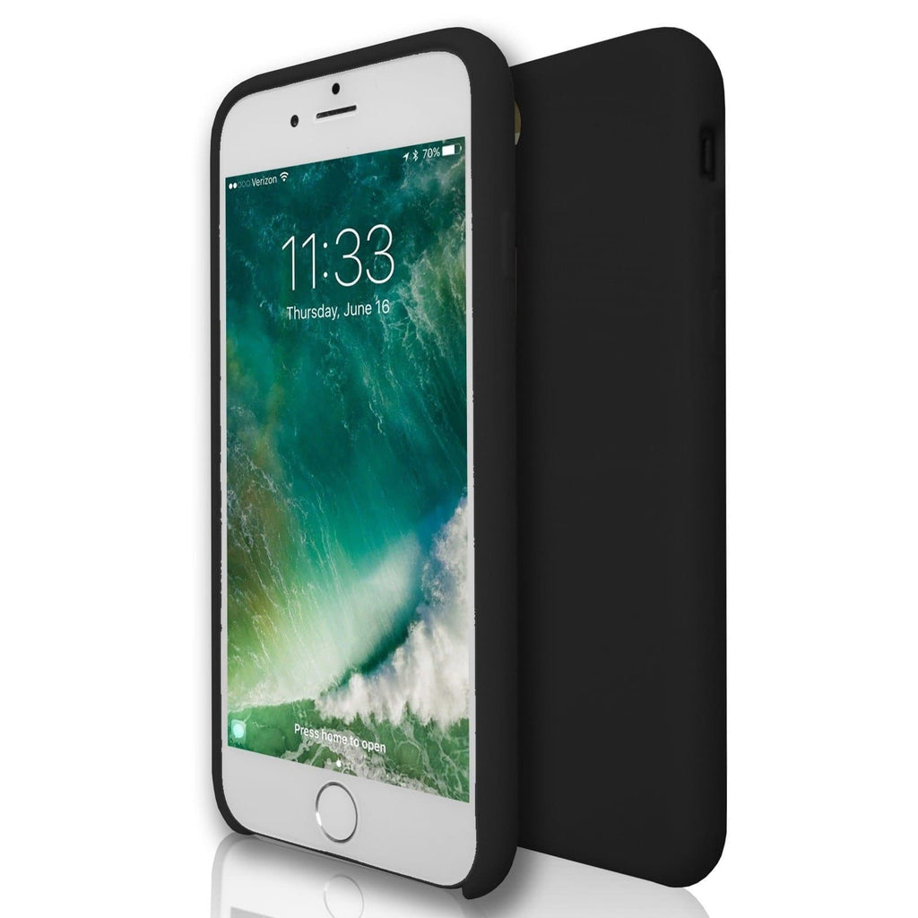 Apple iPhone 7 - Gel Soft Silicone Protective Case - Black