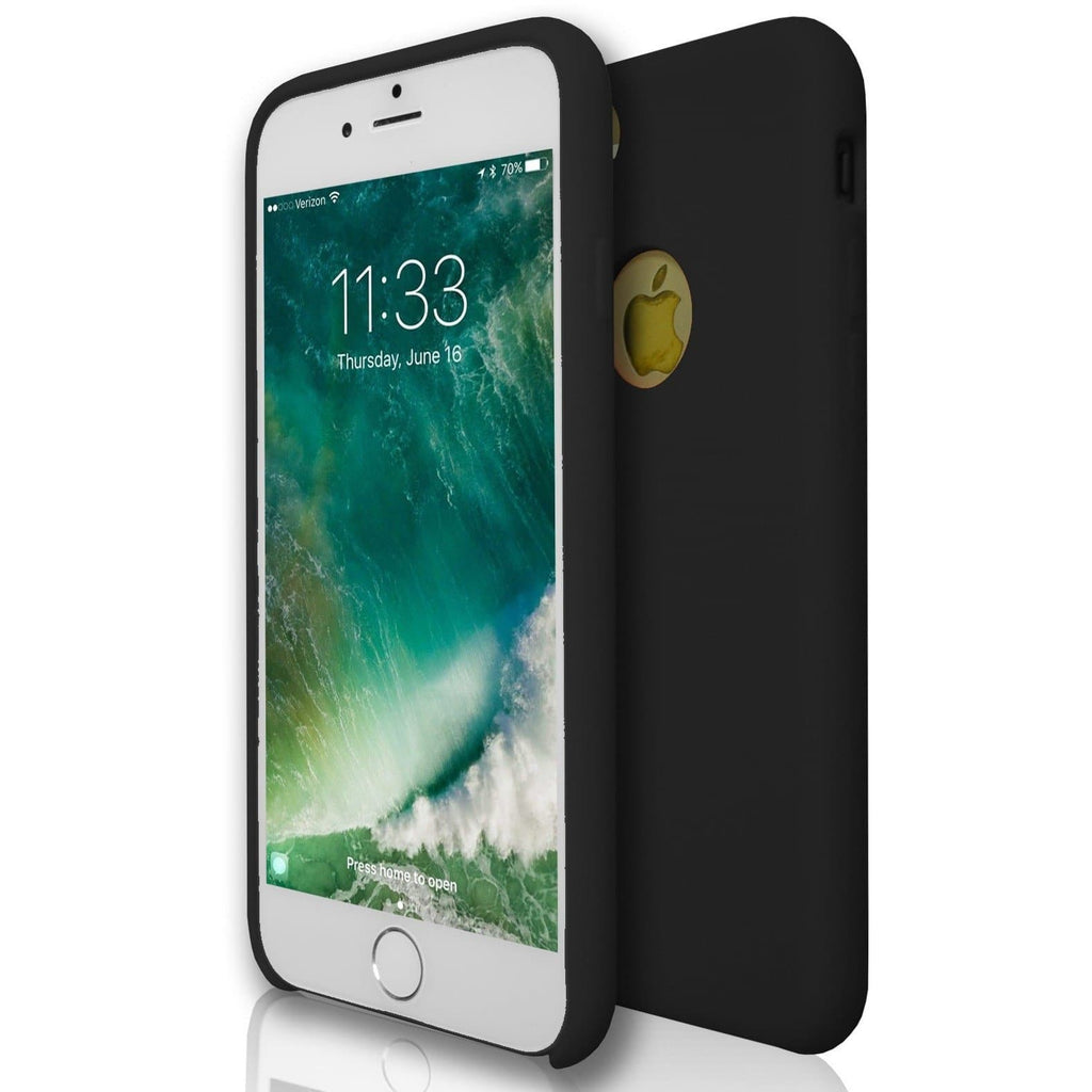 Apple iPhone 7 - Hydro Gel Soft Silicone Protective Case - Black
