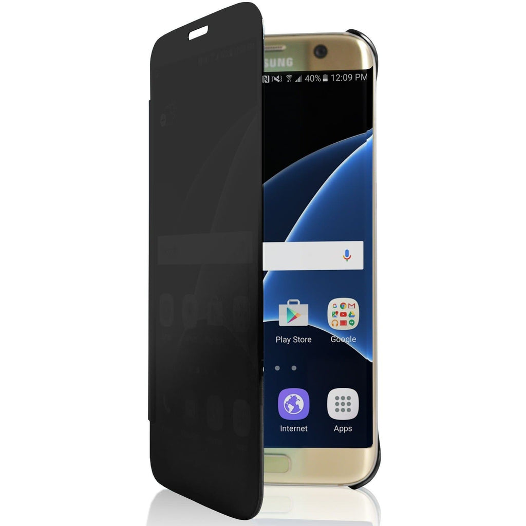 Samsung Galaxy S7 Edge Mirror View Plastic Case - Black