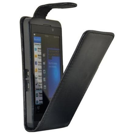 Black Flip Pu Leather Case For Blackberry Z10