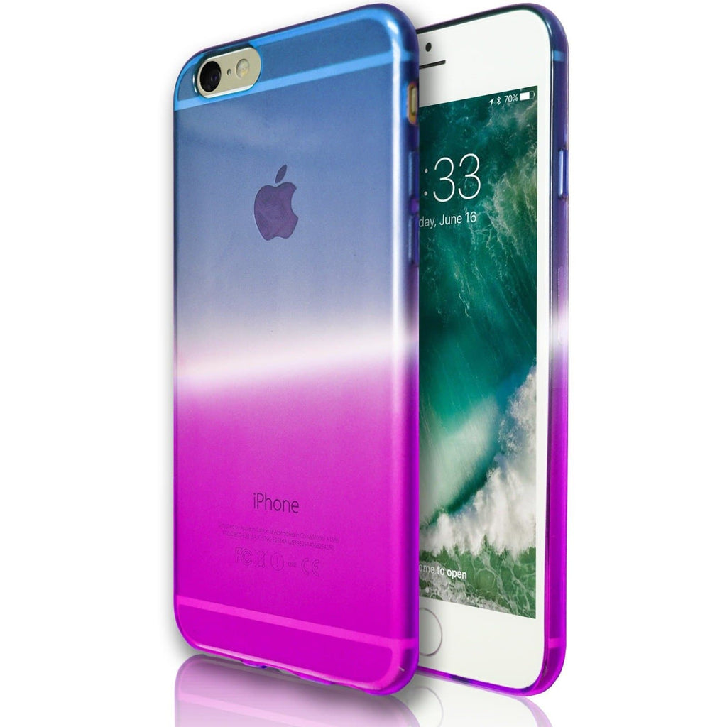 iPhone 6 Plus / 6S Plus Luxury Slim Fit Fade Case - Blue / Purple