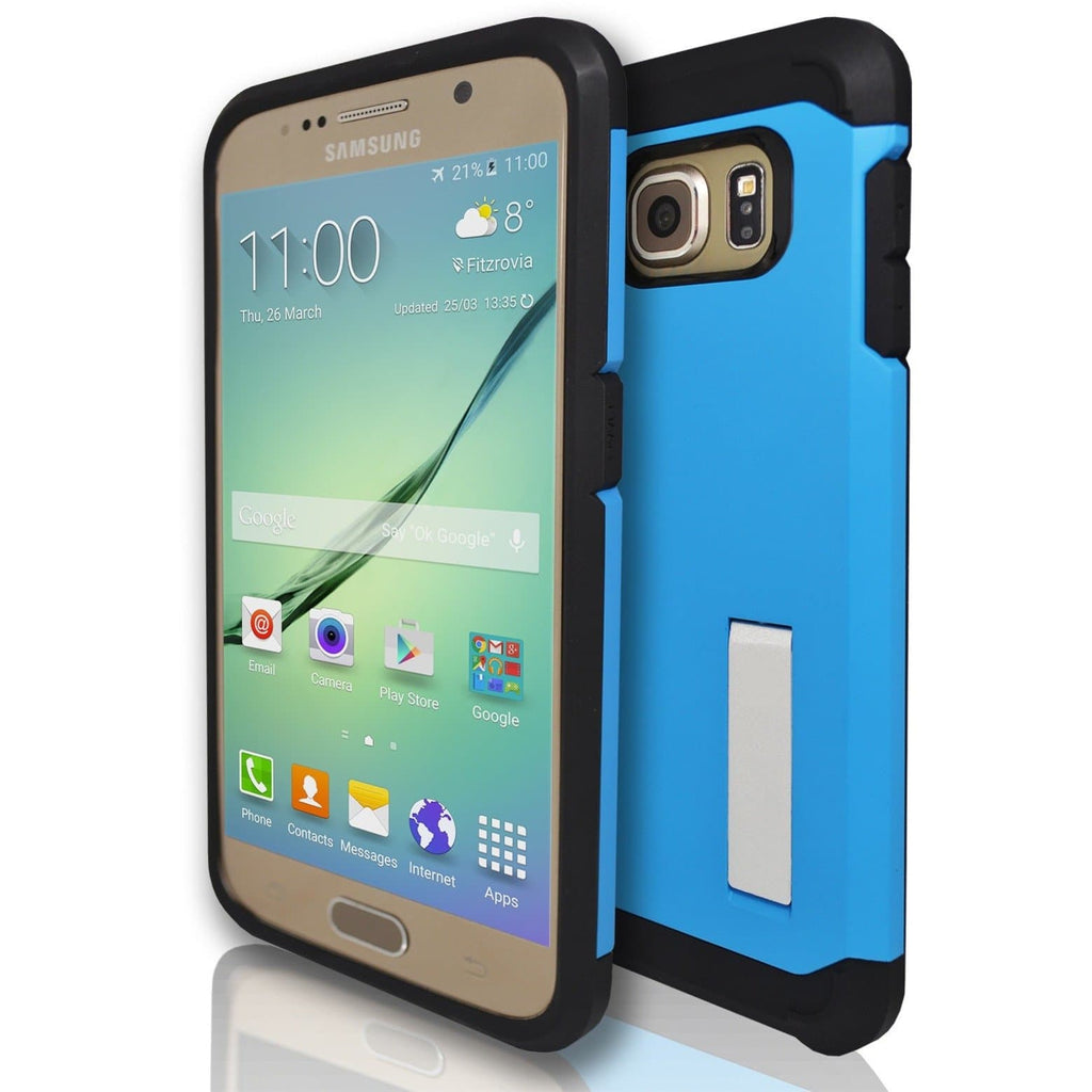 Samsung Galaxy S6 Silicone Armour Case - Blue