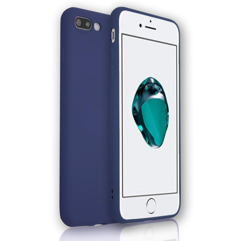 Apple iPhone X - Soft Touch Silicone Rear Surround Case - Blue
