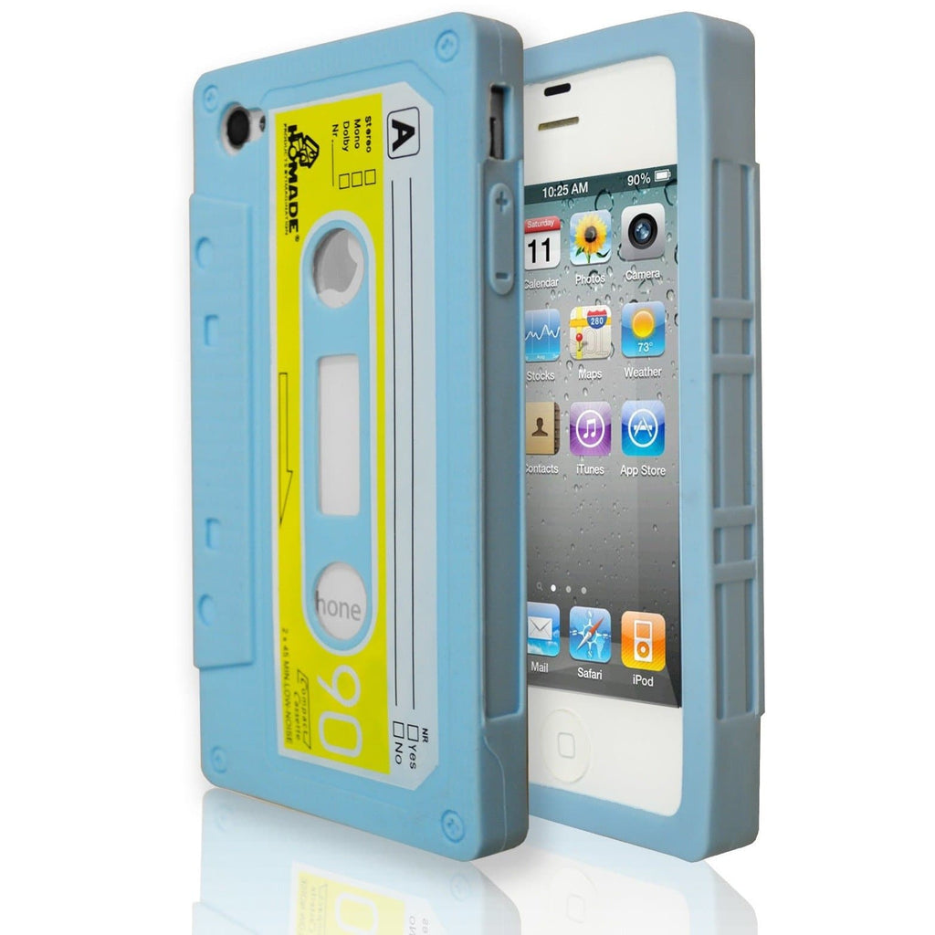 iPhone 4/4S - Blue - Retro Cassette Case