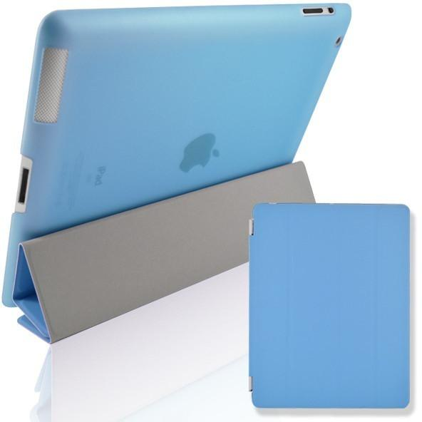 Blue Magnetic Full Smart Front And Back Cover Case Stand With Sleep Wake For Apple iPad 3