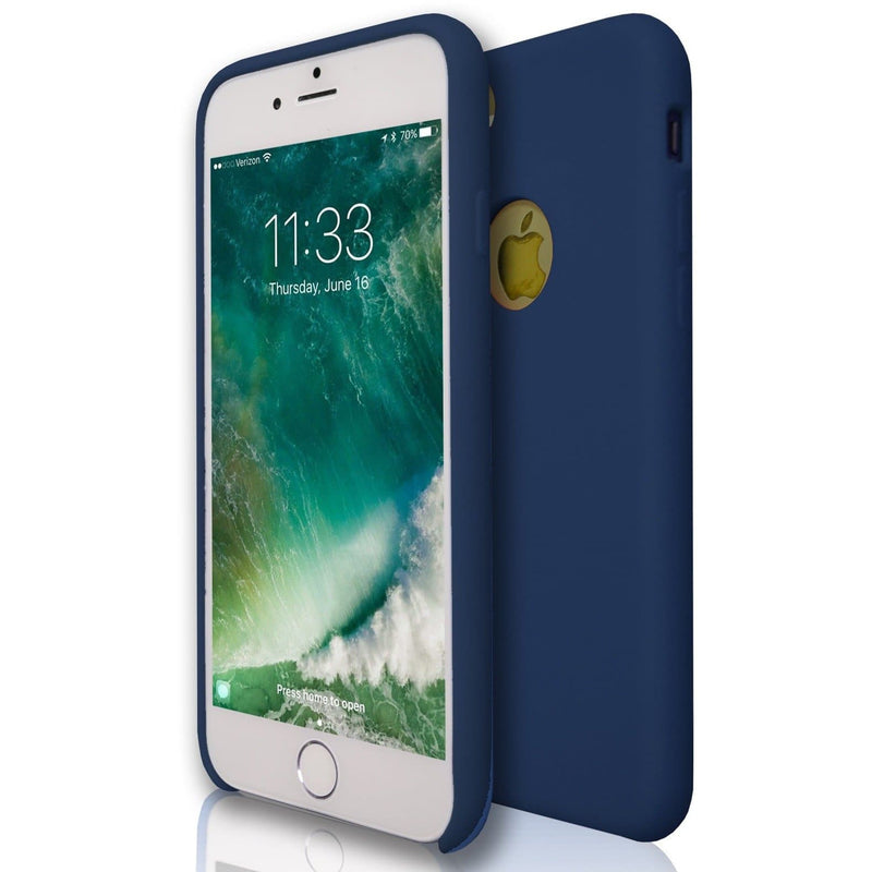 Apple iPhone 7 - Hydro Gel Soft Silicone Protective Case - Blue