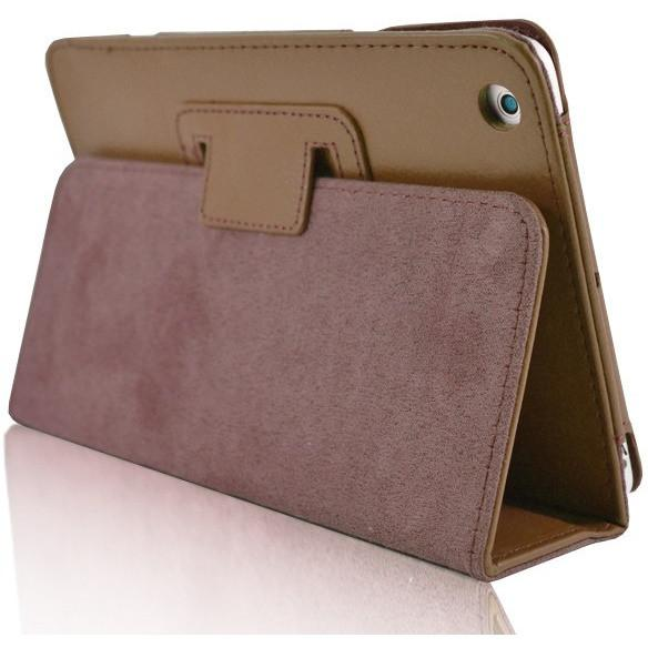 iPad Mini 1 / 2 / 3 - Flip Stand Protective Leather Case - Brown