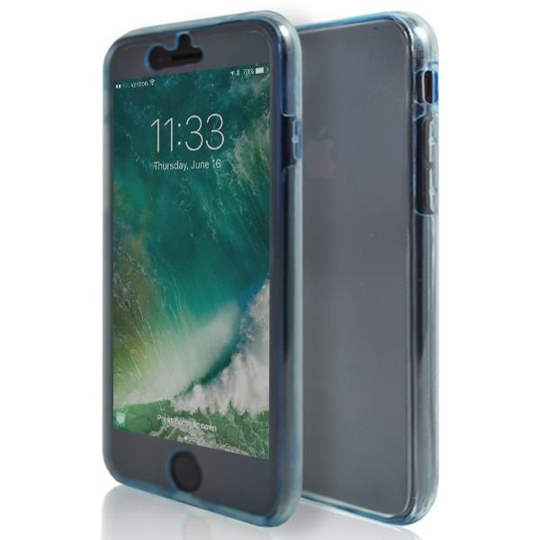 iPhone 7 Plus- Front And Back Full Silicone Protective Case Blue